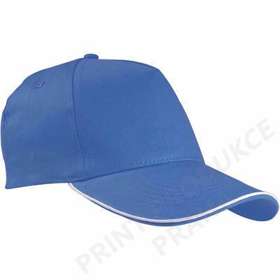 Čepice s kšiltem, královská modrá