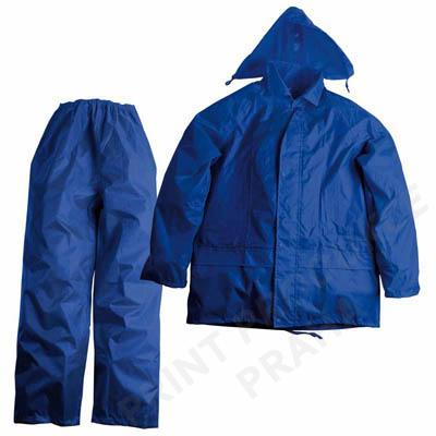 Nepromokavá souprava bundy a kalhot S-M, modrá