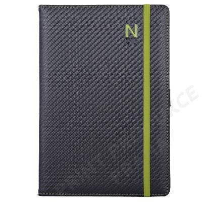 Notes Elastic B6 nelinkovaný - grafit/zelená gumička