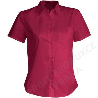 dámská košile zn. KARIBAN, 65 % polyester, 35% bavlna popelín, 110 gr. JUDITE