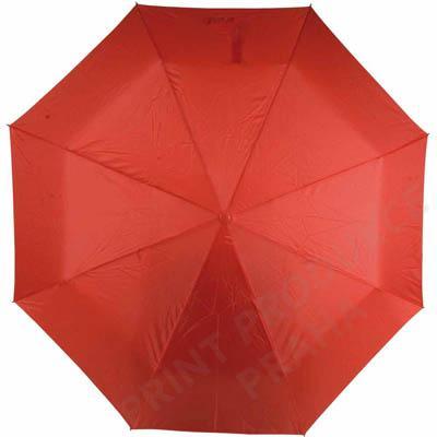 Deštník skládací, červený