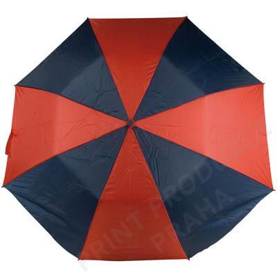 Vystřelovací deštník, modro-červený