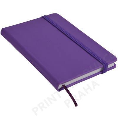 Zápisník s gumičkou, fialová