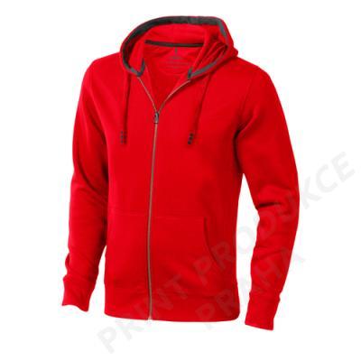 pánská mikina s kapucí a zipem zn. ELEVATE, 80% bavlna, 20% polyester, 300 gr. AROR