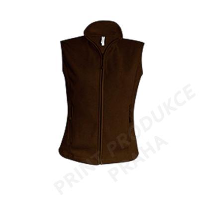 dámská fleece vesta zn. KARIBAN, 100% polyester, 280 gr. ZUZA