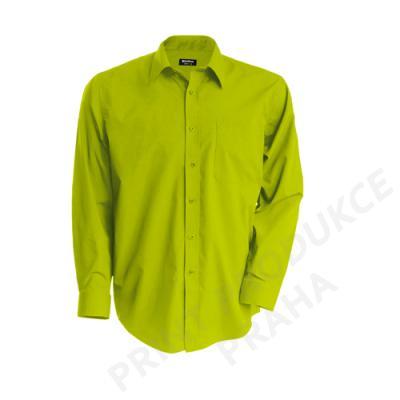 pánská košile zn. KARIBAN, 65 % polyester, 35% bavlna popelín, 110 gr. JOFRE